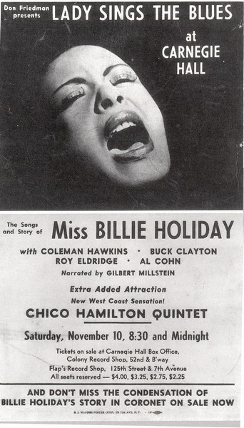Billie Holiday Lady Sings The Blues at Carnegie Hall